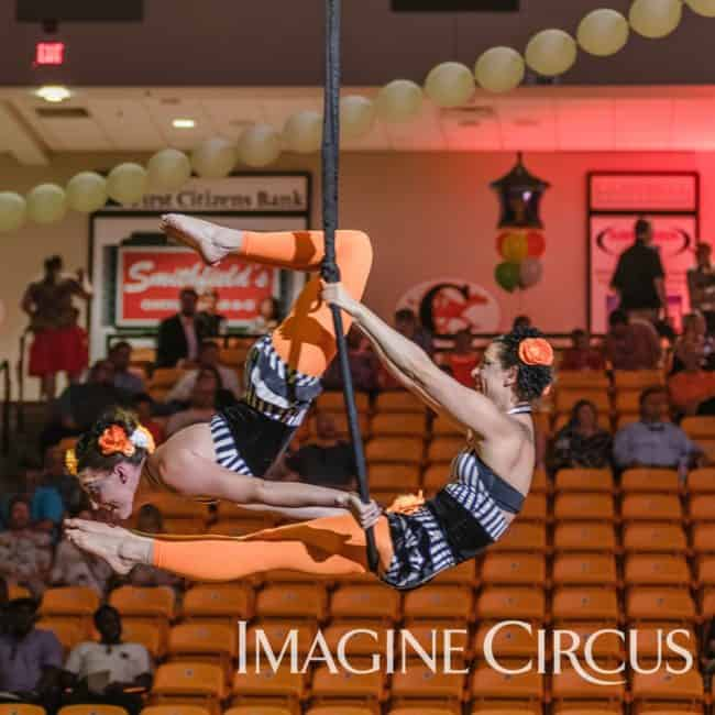 Aerial Dance Duo Lyra, Imagine Circus, Campbell University, Katie, Liz, Photo by Slater Mapp