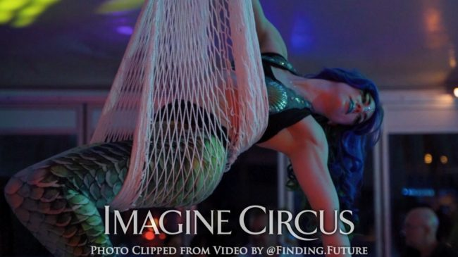 Mermaid Aerial Dancers, Aerial Net, Imagine Circus, Callie, Performer, Photo by Finding Future