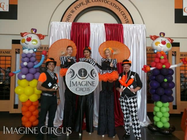 Circus Show, Stilt Walkers, Jugglers, Campbell University, Imagine Circus, Performers, Kyle, Adrenaline, Steph, Ken, Mari