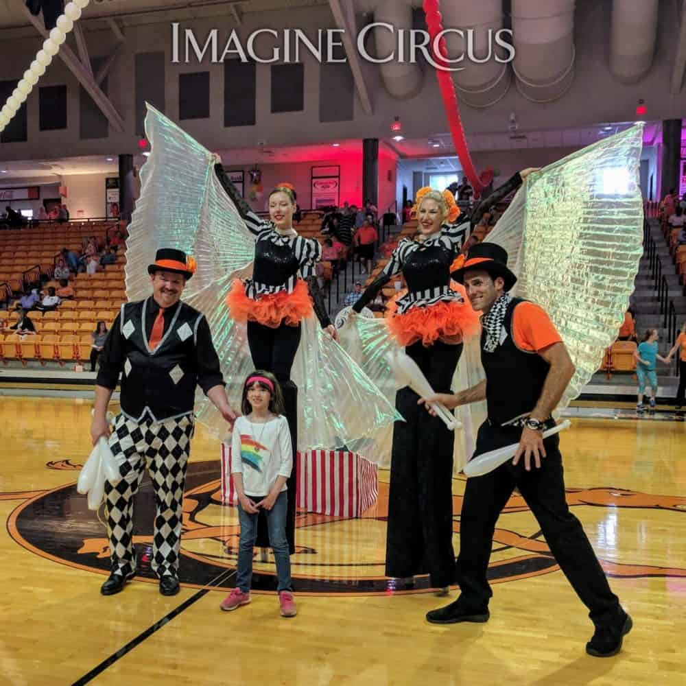 Circus Show, Stilt Walkers, Jugglers, Campbell University, Imagine Circus, Performers, Kyle, Adrenaline, Steph, Ken