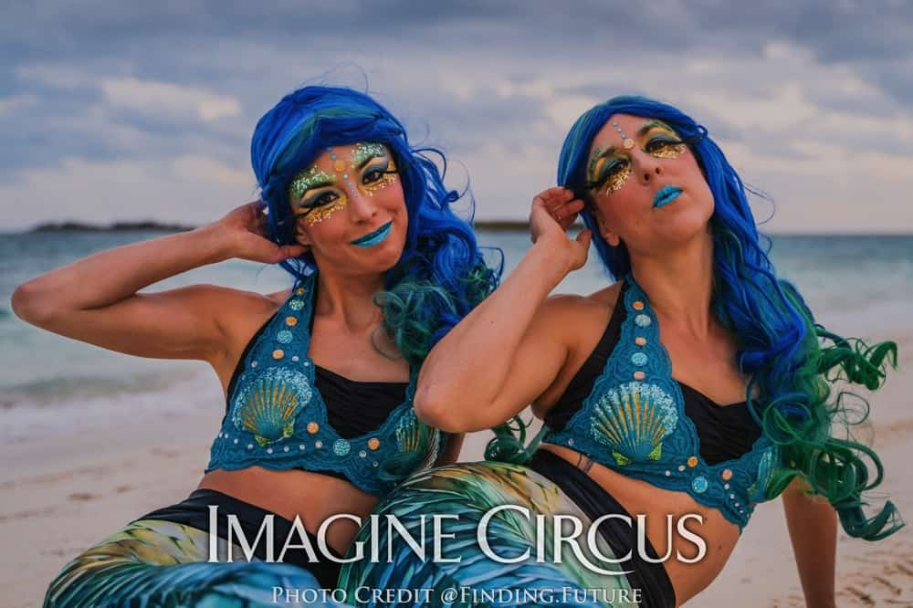 Mermaids, Beach Mermaids, Aerial Dancers, Imagine Circus, Photo by Finding Future