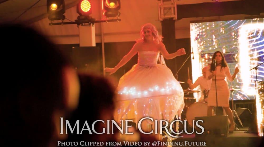 Jellyfish Stilt Walkers, Stilt Walk Dancer, Katie, Imagine Circus, Paradise Island, Bahamas, Photo by Finding Future