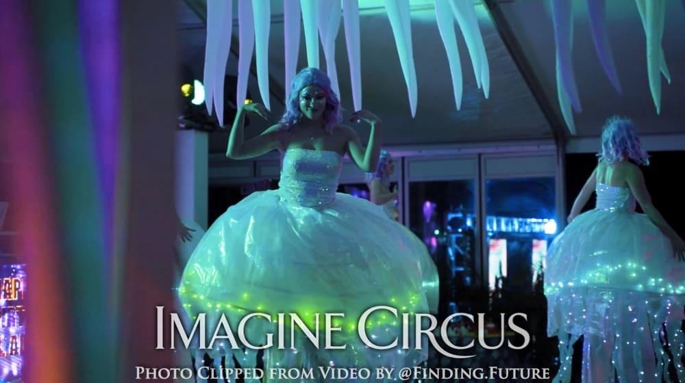 Jellyfish Stilt Walkers, Stilt Walk Dancer, Kaylan, Imagine Circus, Paradise Island, Bahamas, Photo by Finding Future