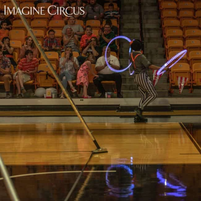 LED Hooper, Imagine Circus, Campbell University, Ben, Photo by Slater Mapp