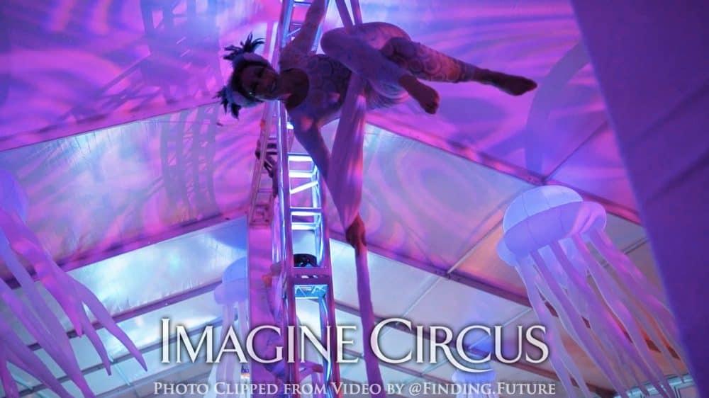 Aerial Dancers, Mermaid, Performer, Liz, Imagine Circus, Photo by Finding Future