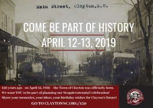 Clayton's 150th Anniversary: Clayton, NC @ Town of Clayton