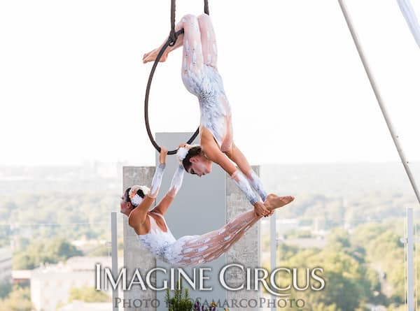 Aerial Hoop Dancers, Lyra Duo, White Cirque, Kaci, Liz, Imagine Circus, Walter Magazine, Photo by Gus Samarco