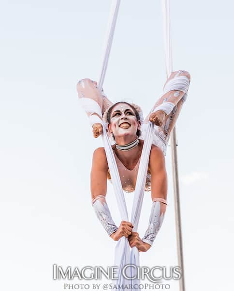 Aerial SilkDancer, White Cirque, Liz, Imagine Circus, Walter Magazine, Photo by Gus Samarco