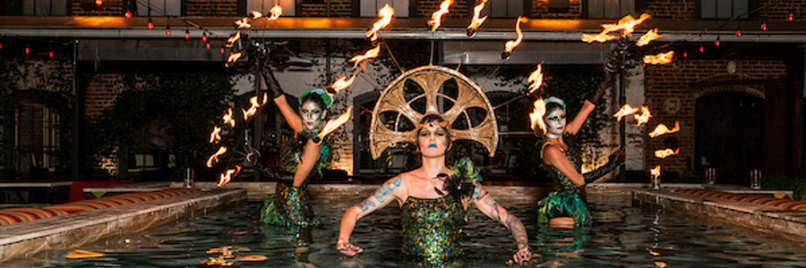Walter Magazine Blog Feature Image, Fire Performers, Imagine Circus, Mulino Italian Kitchen and Bar, Downtown Raleigh