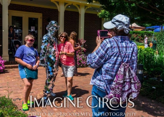 Mirror Man, Living Statue, Cirque Spectacular, Cary, NC, Lazy Daze, Imagine Circus, Photo by Brooke Meyers Photography