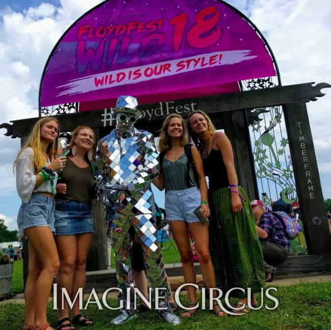 Mirror Man, Living Statue, Floyd Fest, Music Festival, Imagine Circus
