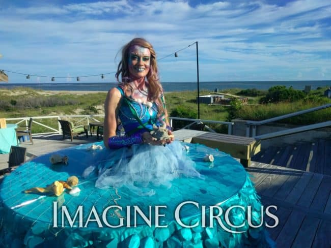 Strolling Table, Mermaid, Imagine Circus, Performer, Lauren, Shoals Club
