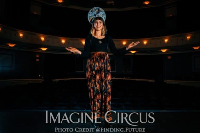 Fortune Teller, Stage Show, Imagine Circus, Cassie, Oddball, Photo by Finding Future