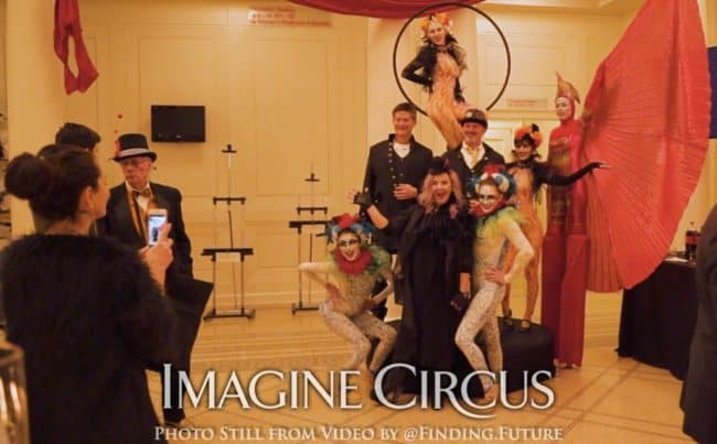 Group Photo, Teal, Gold, Cirque, Imagine Circus, Oddball Gala, Photo Still from Video by Finding Future