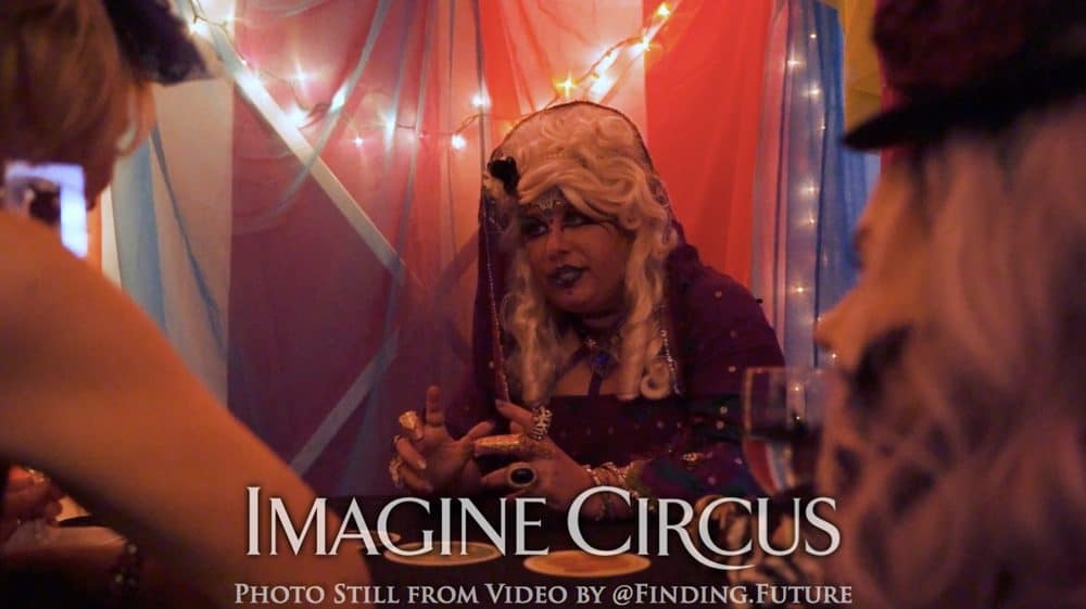 Fortune Teller, Julie, Imagine Circus, Oddball Gala, Photo Still from Video by Finding Future