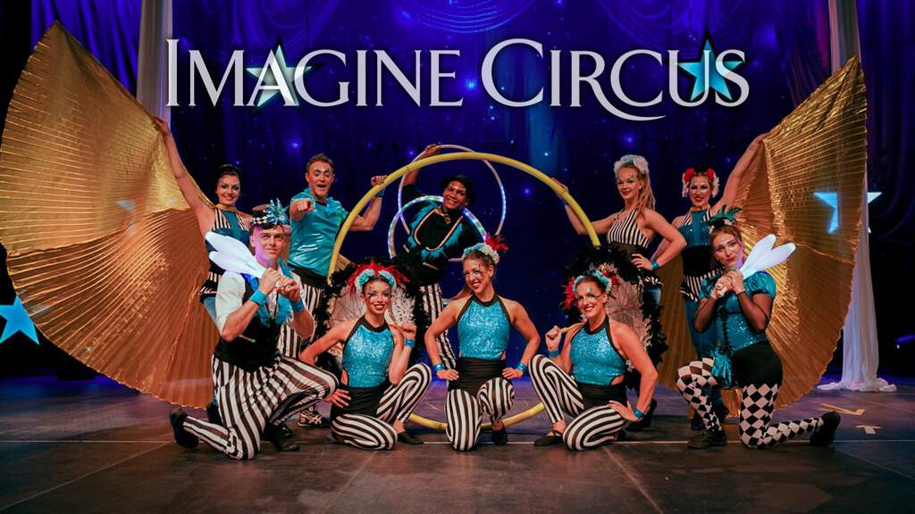 Cirque Celebration, Stage Show, Columbus GA, Group Photo, Imagine Circus Performers, Photo by Finding Future