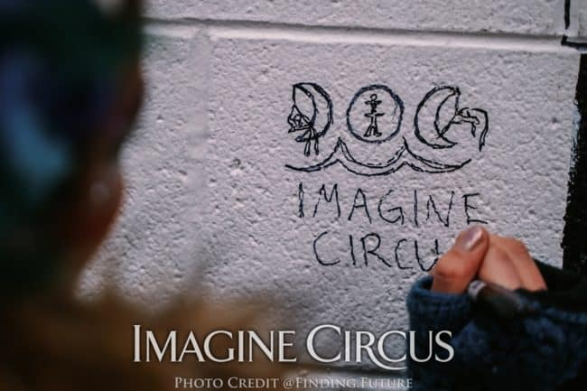 Backstage at DPAC, Imagine Circus, Photo by Finding Future