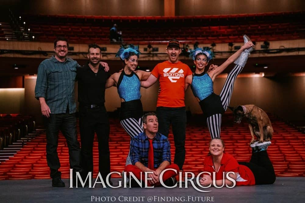 Funny Business Show at DPAC, Imagine Circus, Wacky Chad, Daredevil Dogs, Eric Buss, Photo by Finding Future