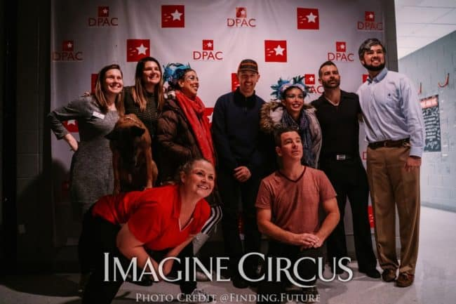 Funny Business Show, Backstage at DPAC, Imagine Circus, Wacky Chad, Daredevil Dogs, Eric Buss, Photo by Finding Future