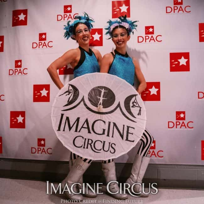 Aerial Dancers at DPAC, Kaci, Liz, Imagine Circus, Photo by Finding Future