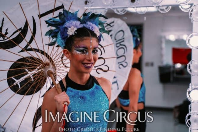 Aerialist, Backstage at DPAC, Kaci, Imagine Circus, Photo by Finding Future