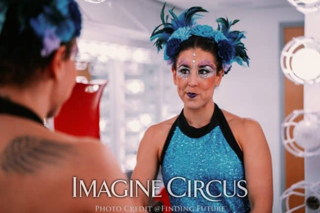 Aerialist, Backstage at DPAC, Liz, Imagine Circus, Photo by Finding Future