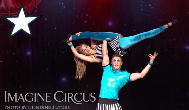 Acrobat Duo, Rocco and Nova, Cirque Celebration, Stage Show, Imagine Circus Performer, Photo by Finding Future