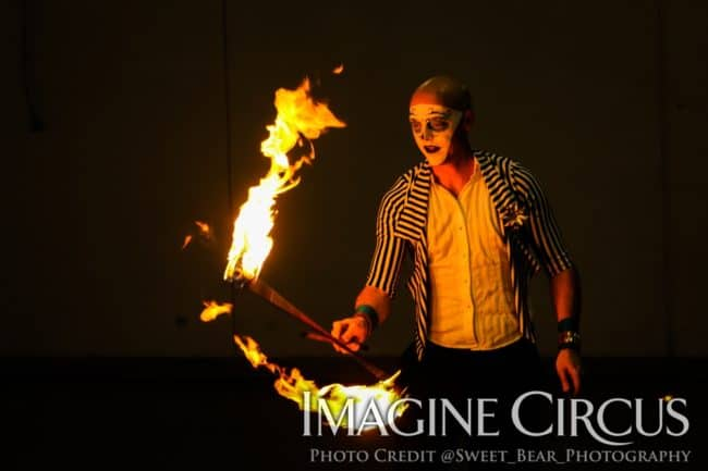 Fire Performer, Adam, Vapers Carnivale, Imagine Circus, Photo by Sweet Bear Photography