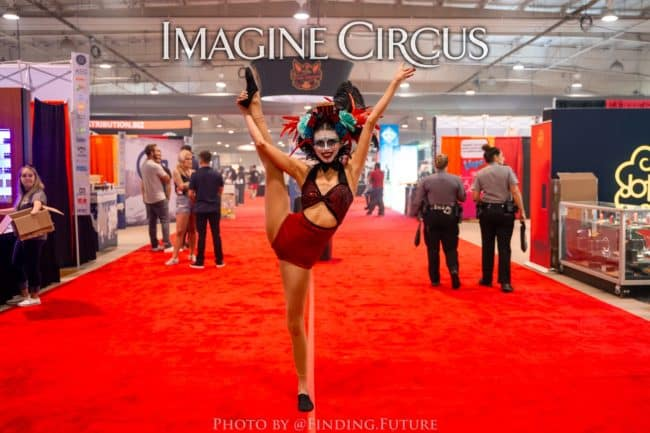 Dark Circus, Acrobat, Kaci, Vapers Carnivale, Imagine Circus Performers, Photo by Finding Future