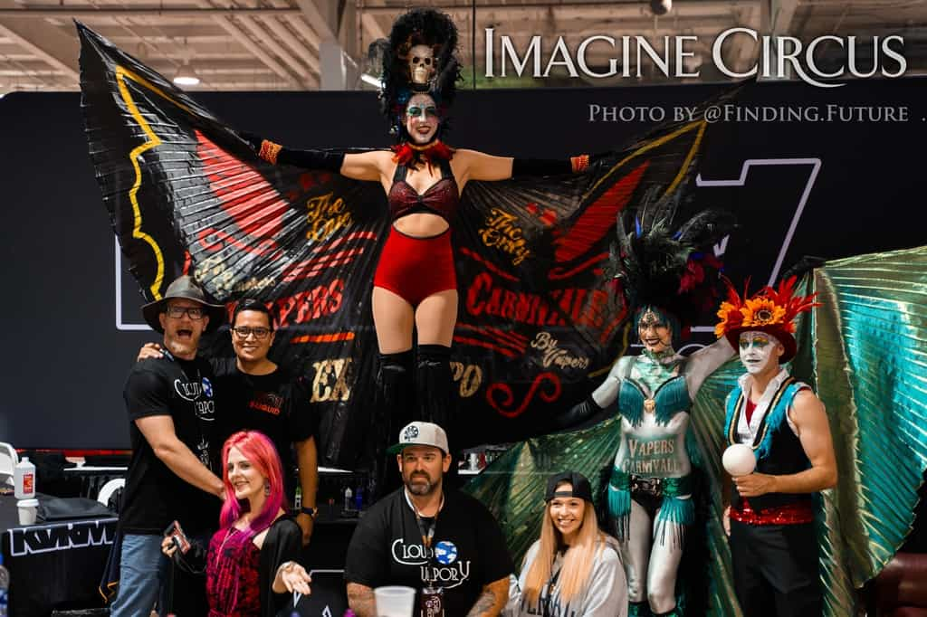 Dark Circus, Group Photo, Vapers Carnivale, Imagine Circus Performers, Photo by Finding Future