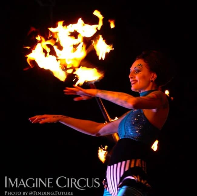 Fire Dancer, Tik-tok, Cirque Celebration, Stage Show, Imagine Circus Performer, Photo by Finding Future