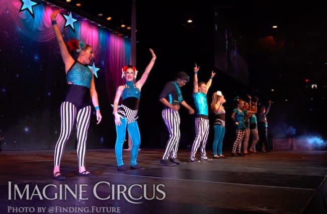 Group Final Bow, Cirque Celebration, Stage Show, Imagine Circus Performer, Photo by Finding Future