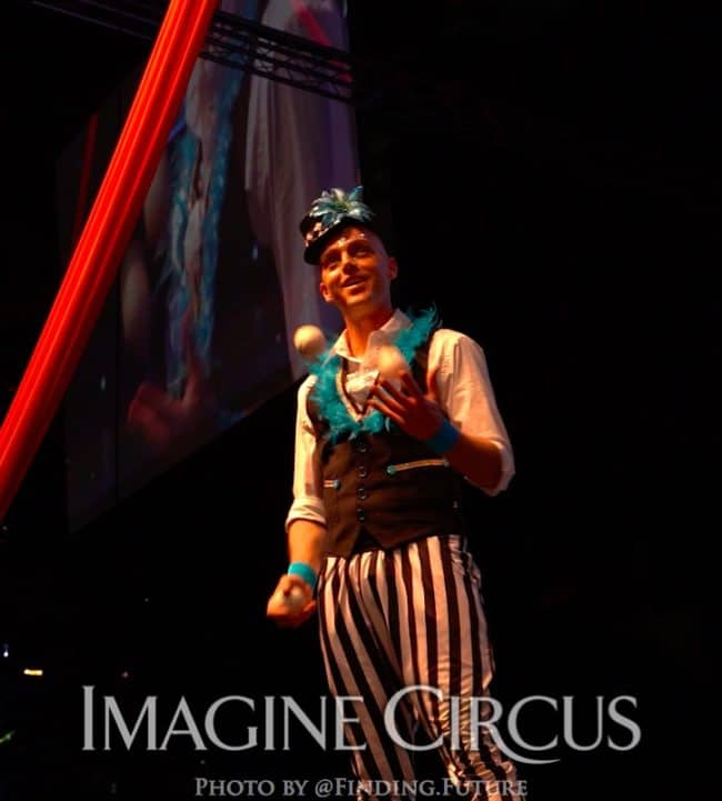 Juggler, Adam, Performer, Cirque Celebration_Stage Show_Imagine Circus Performer, Photo by Finding Future