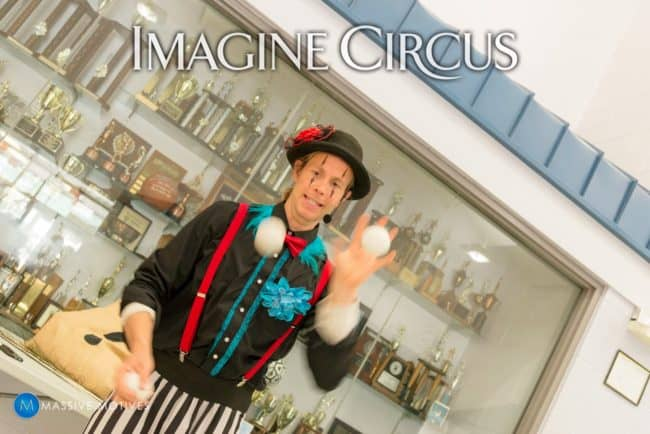 Juggling Show, Time with Tain, Clayton NC, Imagine Circus, Photo by Massive Motives