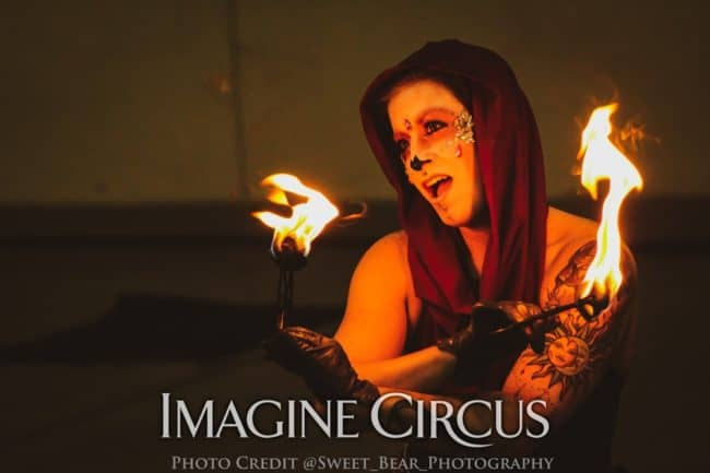 Fire Dancer, Robin, Vapers Carnivale, Imagine Circus, Photo by Sweet Bear Photography