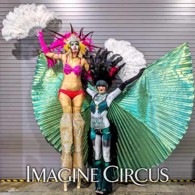 Stilt Walkers, Carnival, Fan Dancers, Imagine Circus, Performer, Lacy, Tik Tok, Vapers Carnival, Convention