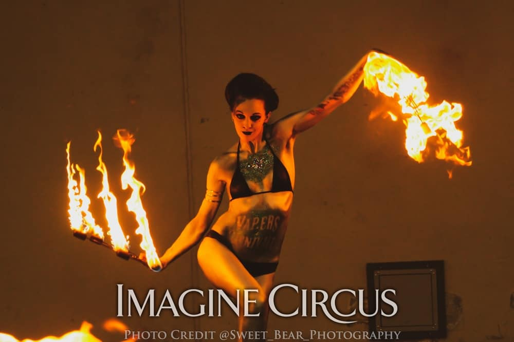 Tik-Tok, Sexy Fire Dancer, Vapers Carnivale, Imagine Circus, Photo by Sweet Bear Photography