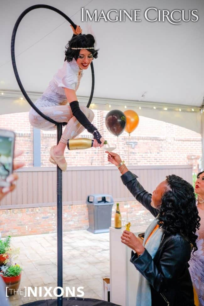 Aerial Bartending, Kaci, Great Gatsby Entertainer, Roaring 20_s Party, Classy Art, Imagine Circus Performer, The Nixons Photography