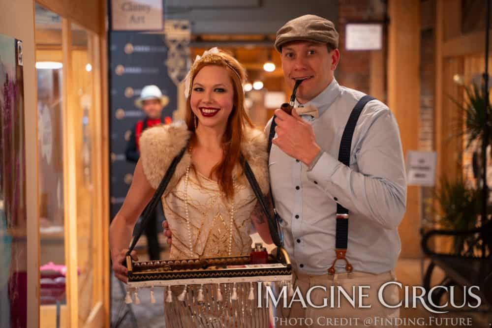 Cigar Girl, Vintage Serving Tray, Brittney I, Gatsby Gala, Classy Art, Imagine Circus, Photo by Finding Future