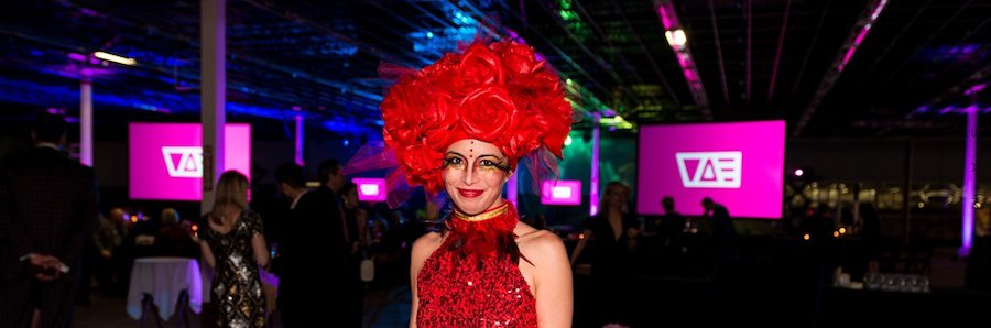 Kaci, Red Rose Strolling Food Table, VAE Gala, Imagine Circus, Photo by Gus Samarco