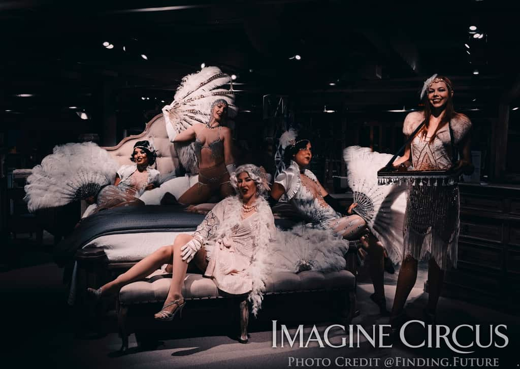 Roaring 20s, Vintage Group Photo, Gatsby Glam Gala, Classy Art, Imagine Circus, Photo by Finding Future