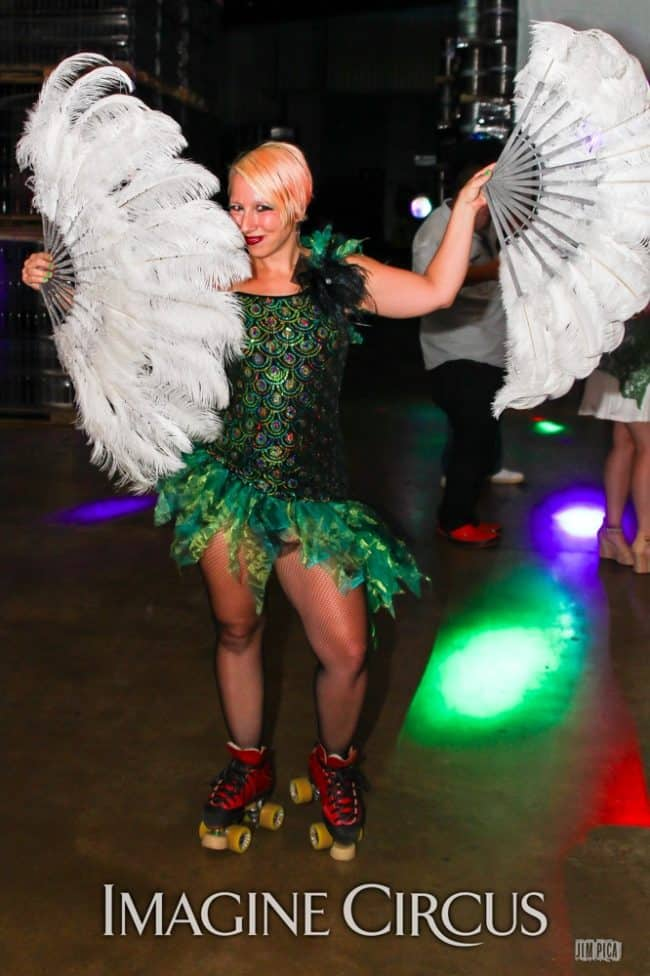 Roller Skate Dancer, Holly, Studio 54, Foothills Brewery, Imagine Circus, Photo by Jim Pica