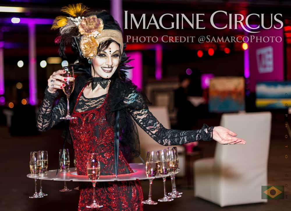 Tik-tok, LED Champagne Skirt, VAE Gala, Imagine Circus, Photo by Gus Samarco