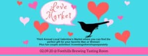 Foothills Brewing Third Annual Love Market: Winston Salem, NC @ Foothills Brewing Tasting Room