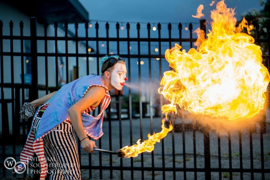 Fire breathing editorial image. Image of trick, breathing ...